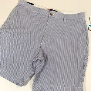 Chaps blue and white seersucker shorts